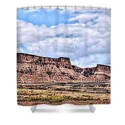 Bardenas Desert Panorama 1 Shower Curtain