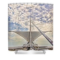 Bare Metal Mam Shower Curtain
