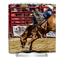 Bareback Riding Shower Curtain by Eleanor Abramson