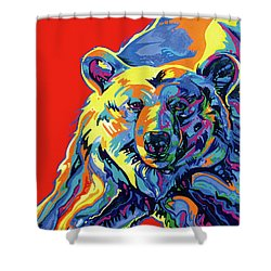 Barehead Shower Curtain by Derrick Higgins
