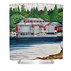 Barkhouse Boatshed Shower Curtain