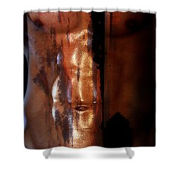 Barmuda Metallic  2 Shower Curtain by Mark Ashkenazi