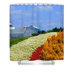 Barn And Quilt Garden Shower Curtain