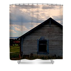Barn And Tractor Shower Curtain by Matt Harang