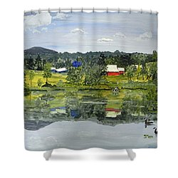 Barn At Little Elk Lake Shower Curtain