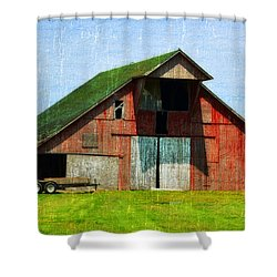 Barn - Central Illinois - Luther Fine Art Shower Curtain by Luther Fine Art