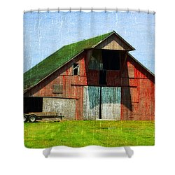 Barn - Central Illinois - Luther Fine Art Shower Curtain
