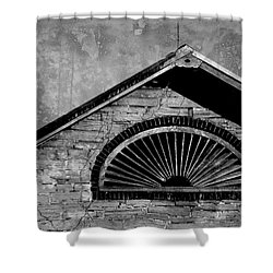 Barn Detail - Black And White Shower Curtain