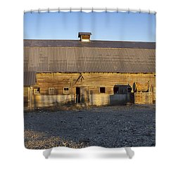 Barn In Rural Washington Shower Curtain by Cathy Anderson