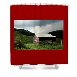 Barn In The Usa Shower Curtain by Karen Wiles