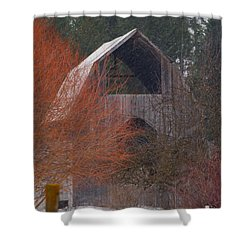 Barn Off Daisy Mine Road  Shower Curtain