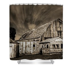 Barn On Hwy 66 Shower Curtain