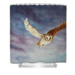 Barn Owl Shower Curtain by Jean Walker