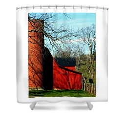 Barn Shadows Shower Curtain by Karen Wiles