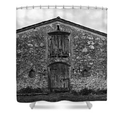 Barn Sienna Shower Curtain by Hugh Smith