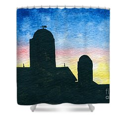 Barn Silhouette 2 Shower Curtain