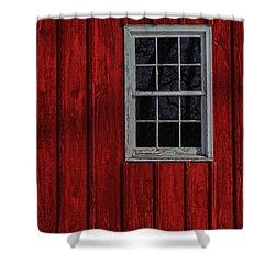 Shower Curtain featuring the photograph Barn Window by Debra Fedchin