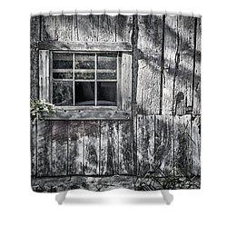 Barn Window Shower Curtain by Joan Carroll