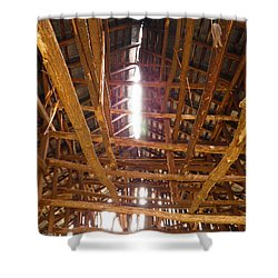 Shower Curtain featuring the photograph Barn With A Skylight by Nick Kirby