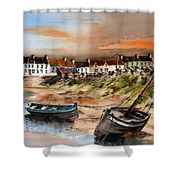 Barna Sunset Galway Shower Curtain