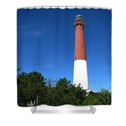 Barnegat Lighthouse Shower Curtain by Colleen Kammerer