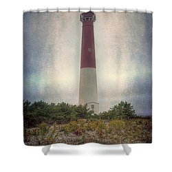Barnegat Lighthouse Dawn Shower Curtain by Joan Carroll