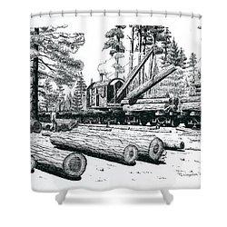 Barnhart Log Loader Shower Curtain