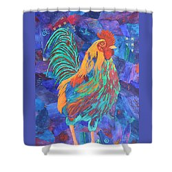 Barnyard Dude Shower Curtain by Nancy Jolley