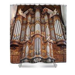 Baroque Grand Organ In Oude Kerk In Amsterdam Shower Curtain