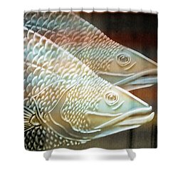 Shower Curtain featuring the photograph Barramundi by Holly Kempe