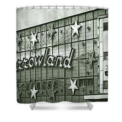 Barrowland Glasgow Shower Curtain by Liz Leyden
