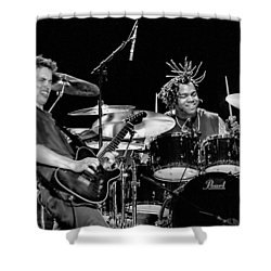 Barry Alexander Drumming For Johnny Lang Shower Curtain