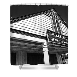 Barthel Store Shower Curtain by Scott Pellegrin