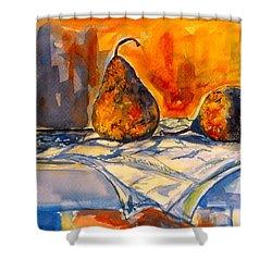 Bartlett Pears Shower Curtain by Kendall Kessler