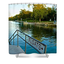Barton Springs Pool In Austin Texas Shower Curtain