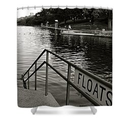 Barton Springs Pool In Austin Shower Curtain