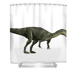 Baryonyx Walkeri, Early Cretaceous Shower Curtain by Nobumichi Tamara