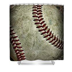 Baseball - A Retired Ball Shower Curtain by Paul Ward