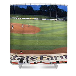 Baseball America's Past Time Shower Curtain by Thomas Woolworth