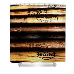 Baseball Bats Shower Curtain by Bill Cannon