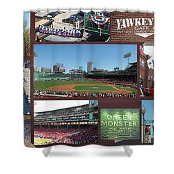Baseball Collage Shower Curtain by Barbara McDevitt
