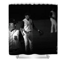 Baseball Days Shower Curtain by Karol Livote