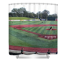 Baseball Early Fan Arrival Shower Curtain by Thomas Woolworth