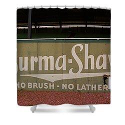 Baseball Field Burma Shave Sign Shower Curtain