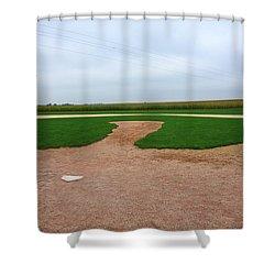 Baseball Shower Curtain by Frank Romeo