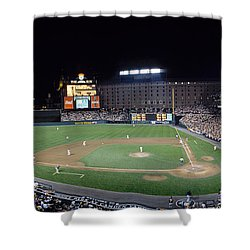 Baseball Game Camden Yards Baltimore Md Shower Curtain by Panoramic Images