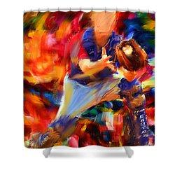 Baseball II Shower Curtain by Lourry Legarde