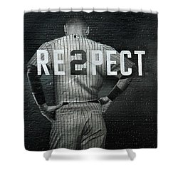 Baseball Shower Curtain by Jewels Blake Hamrick