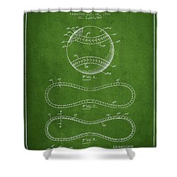 Baseball Patent Drawing From 1928 Shower Curtain by Aged Pixel