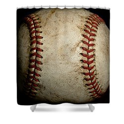 Baseball Seams Shower Curtain by David Patterson